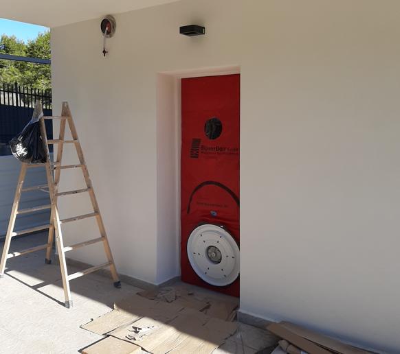 Instalación equipo Blower Door
