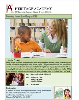 Summer School Options At Heritage