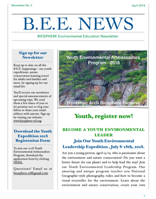 Become a Youth Environmental Leadership Expedition