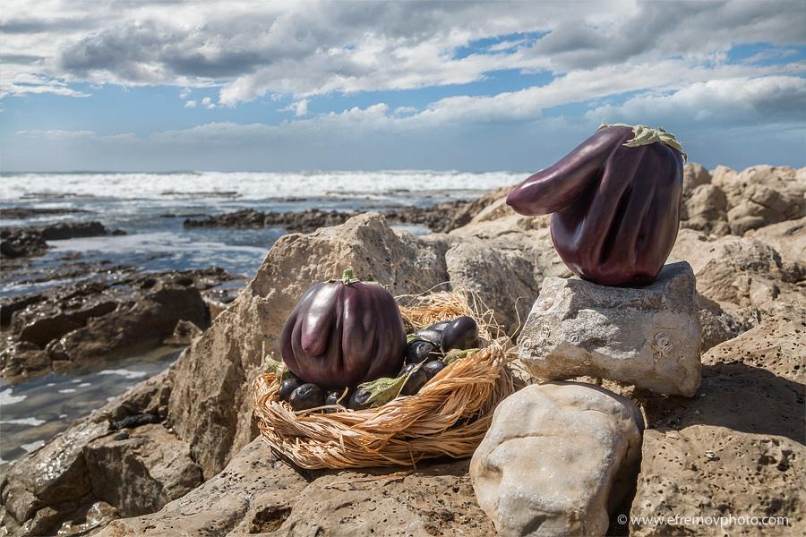 Nest. Eggplants