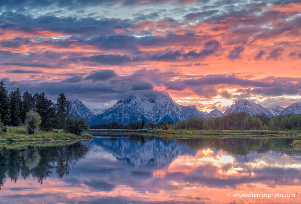 Sunset, Grand Teton
