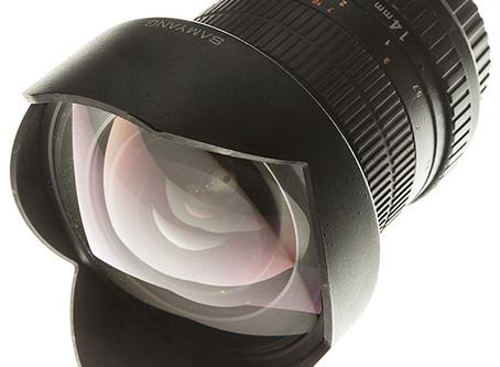 Samyang 14 mm, профиль объектива