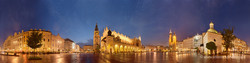 Krakow, Plac Mariacki, evening