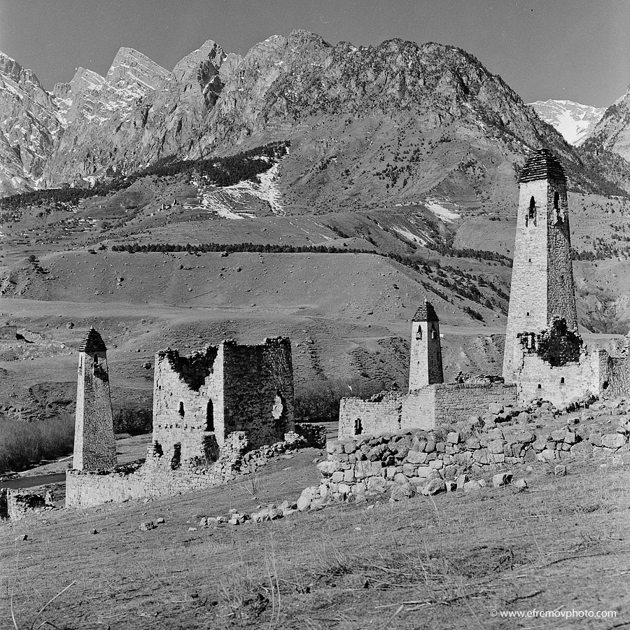 Old ruins. Towers