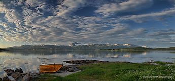 panorama, landscape, fiord, Norway, clouds