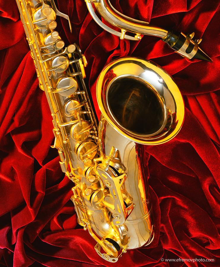 Yellow saxophone