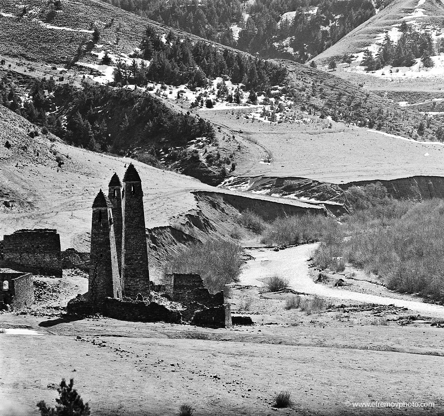 Towers in the river valley