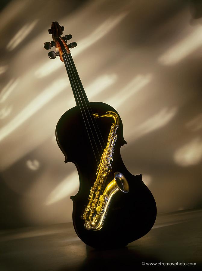 Saxophone and Violin