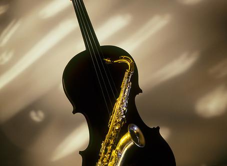 Фотография без Photoshop. Скрипка и саксофон
