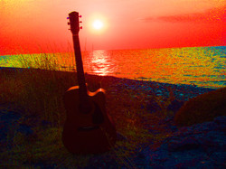 My guitar in Samothraki