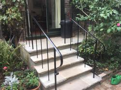 Back garden house entrance