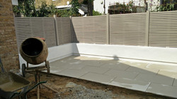 white and clay clean garden tbc