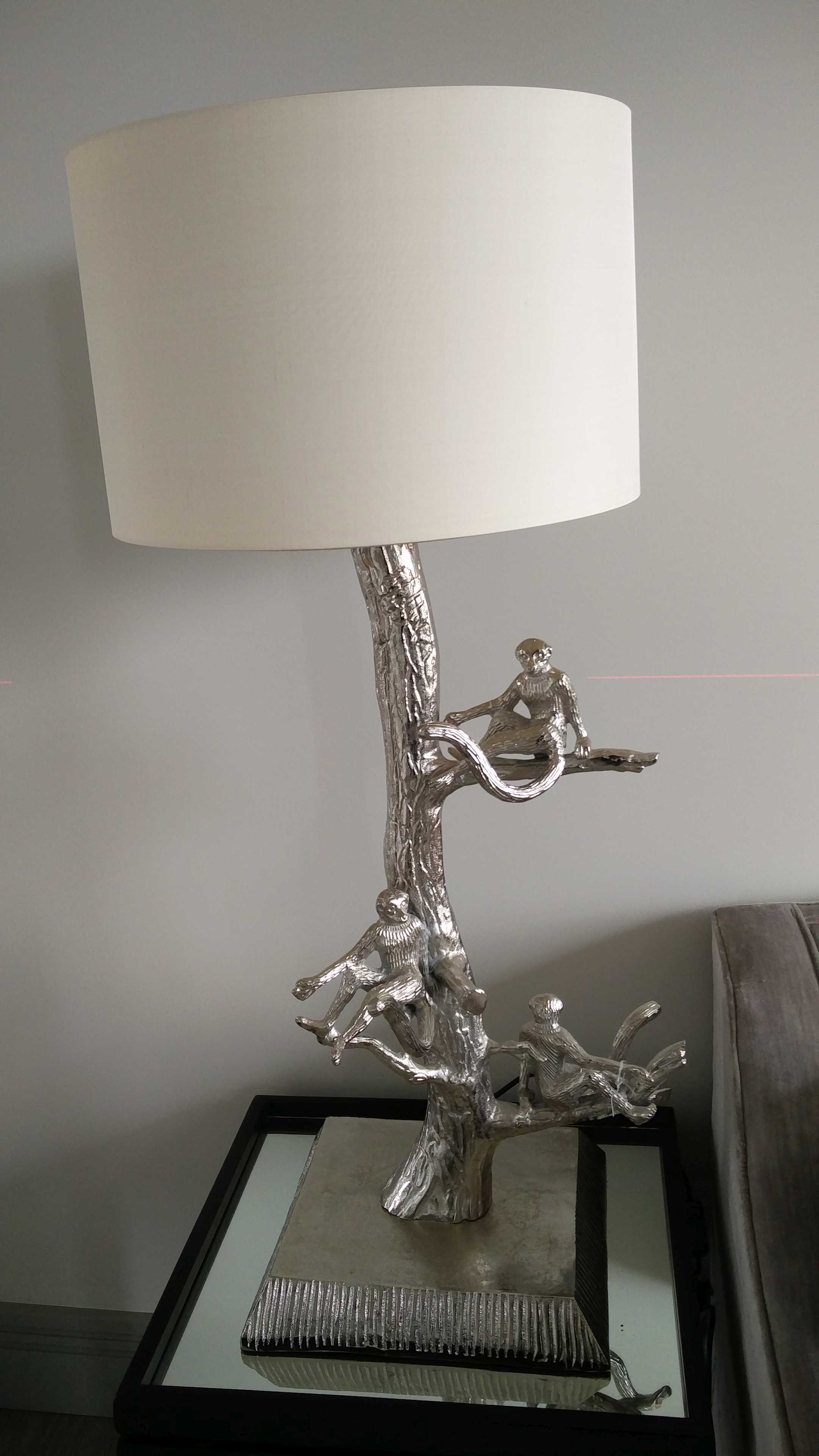 monkey lamp - final touches