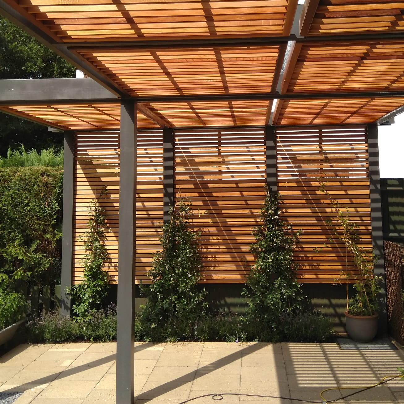 Custom made pergola cedar wood