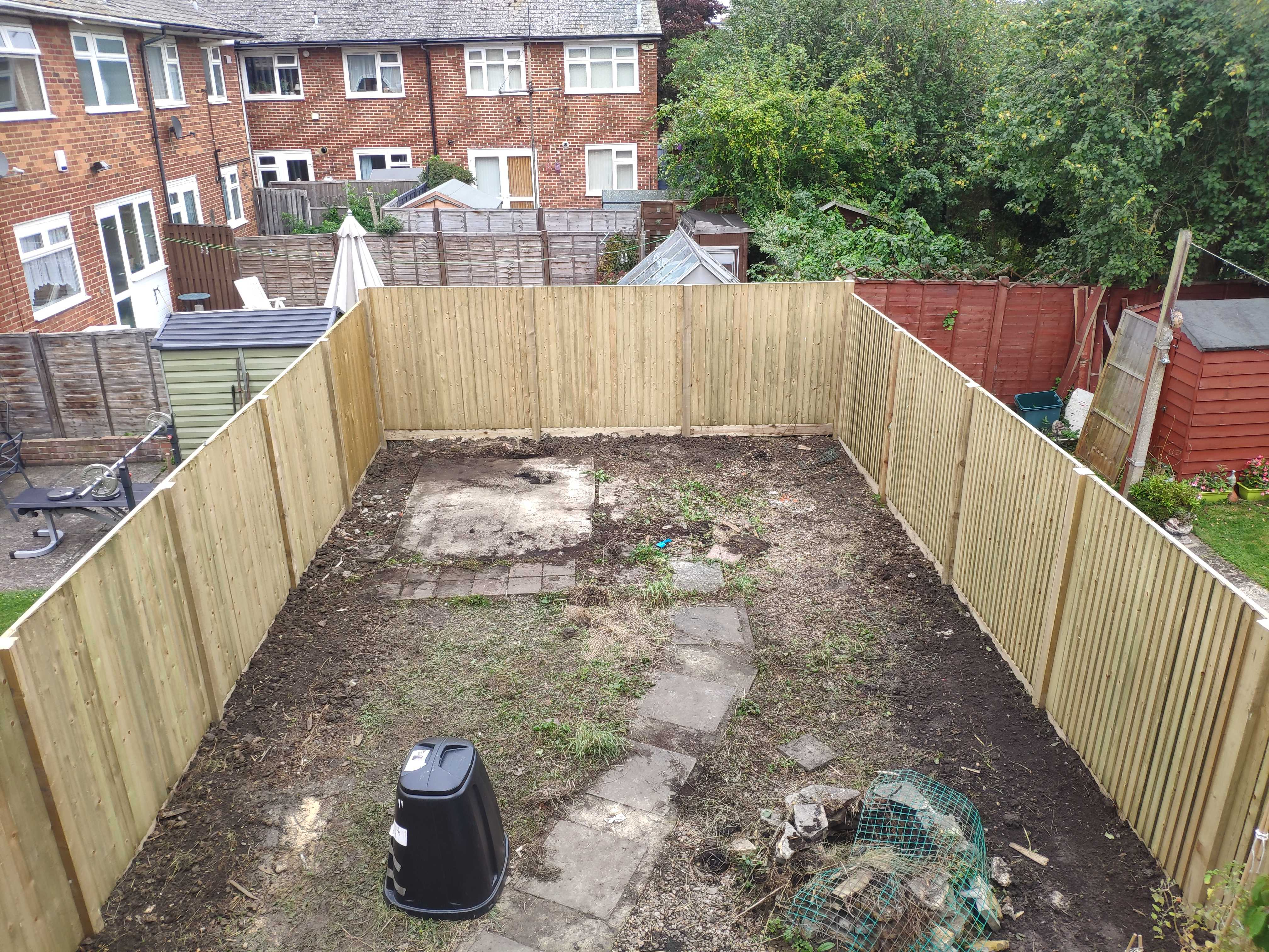 new fence, new garden boarder