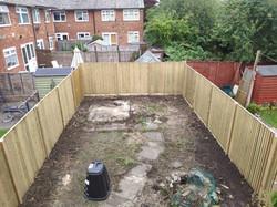 new fence, new garden boarder