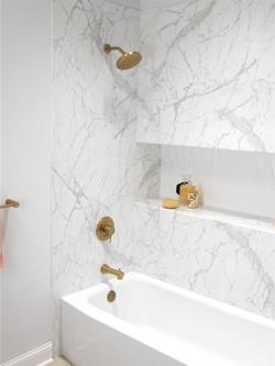 white marble & gold bathroom