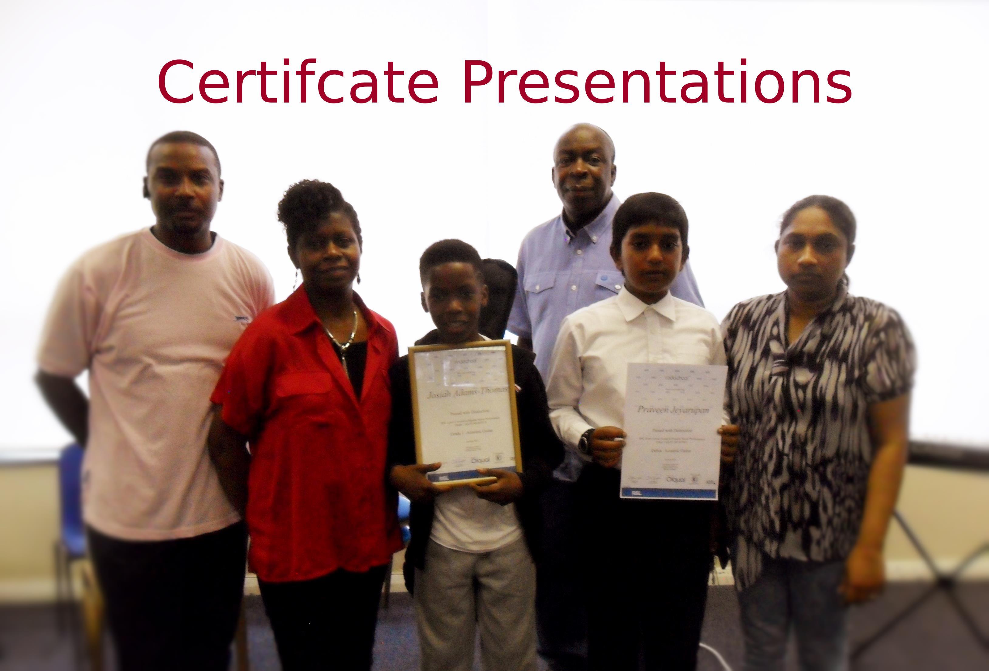 Certifcate Presentations