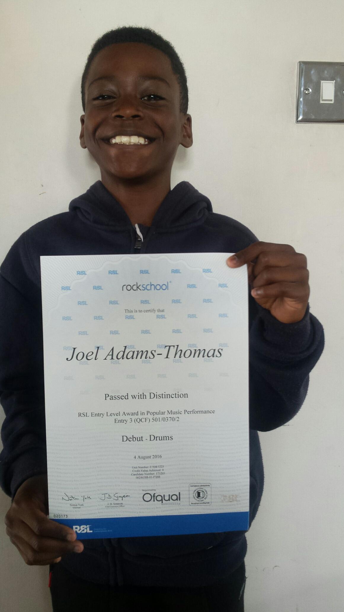Joel Adams- Thomas