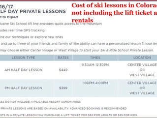 Ski lessons in Co Vs Ski Lessons in FL Compare prices and the learning effectiveness!