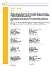 JCF LIFE & LEGACY donor list as of 12-28