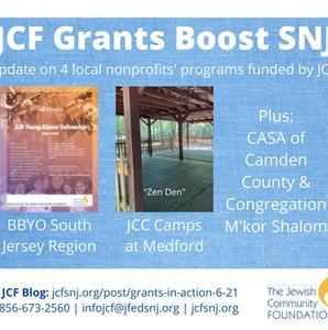 JCF Grants-in-Action, Spring 2021