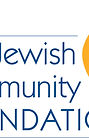 """Logo of the Jewish Community Foundation, Inc. with yellow """"flame"""""""