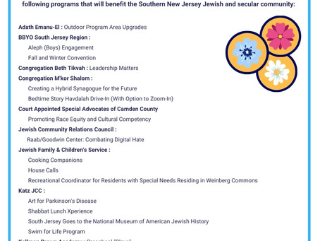 Announcing the 2021 Spring JCF Grants Awards