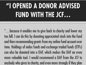 """""""I Opened a Donor Advised Fund..."""""""