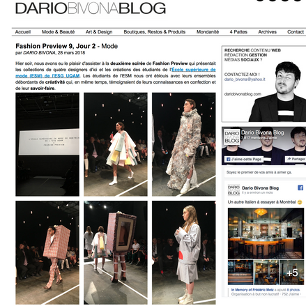 Fashion Preview 9, Jour 2 - Mode