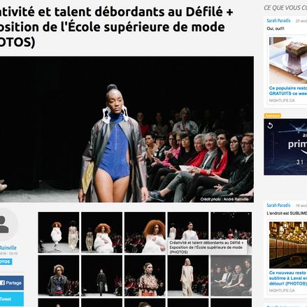 Créativité et talent débordants au Défilé + Exposition de l'École supérieure de mode