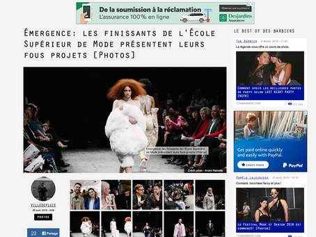 Émergence: les finissants de l'École Supérieur de Mode présentent leurs fous projets