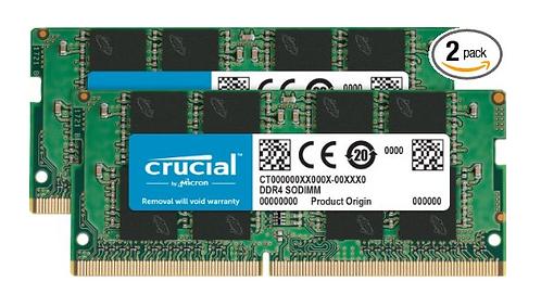 Memória Crucial DDR4 2133 MT/s (PC4-17000) SODIMM 260 Pinos