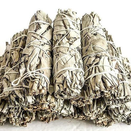 """4 White Sage smudge stick"