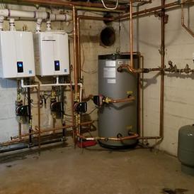 2 Navien High Efficiency Boilers & 1 Weil Mclaine Water Heater