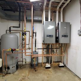 2 NTI High Efficiency Condensing Boilers & 1 Indirect Water Heater