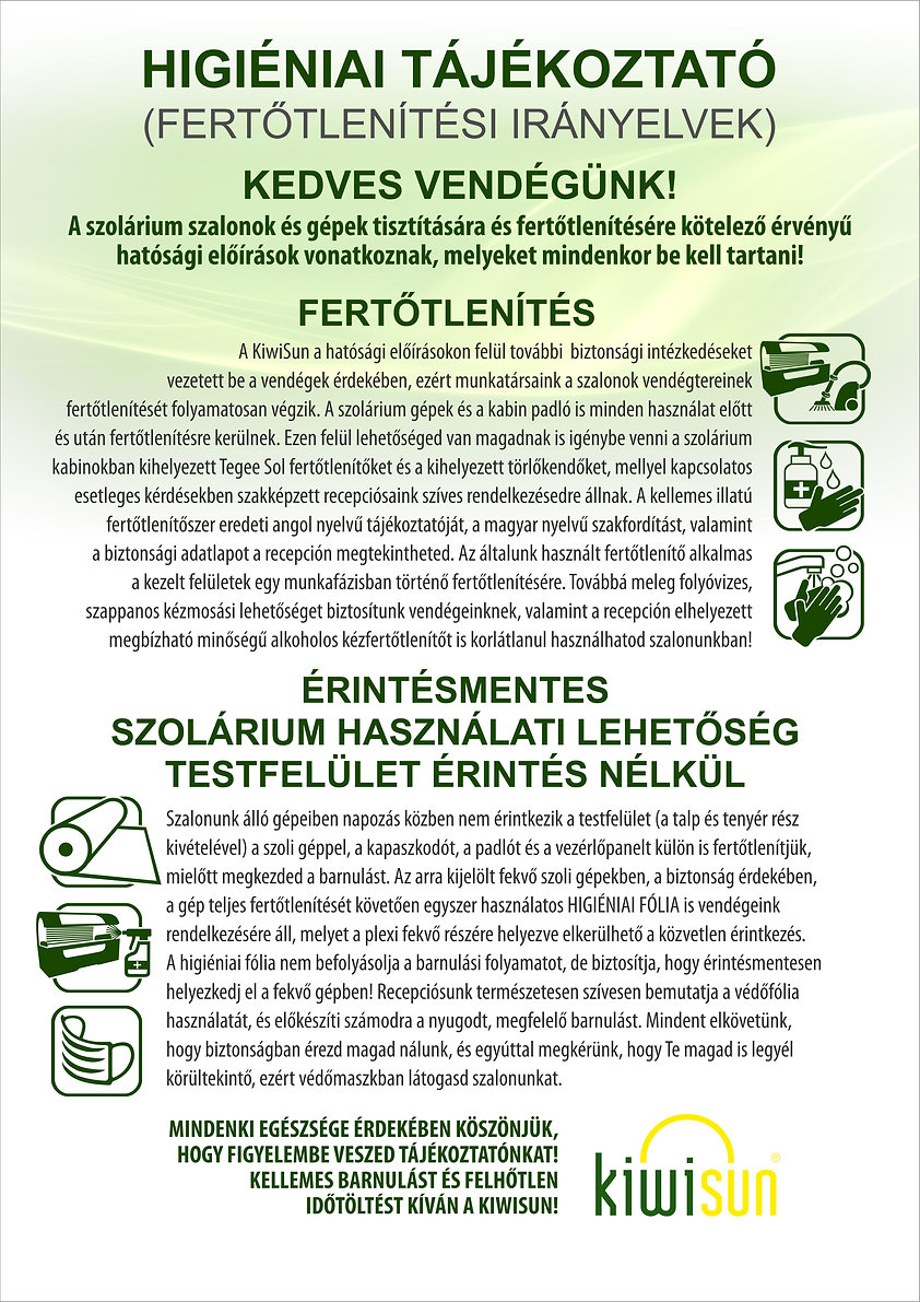 Higiéniai tájékoztató plakát A2 - 2020.0