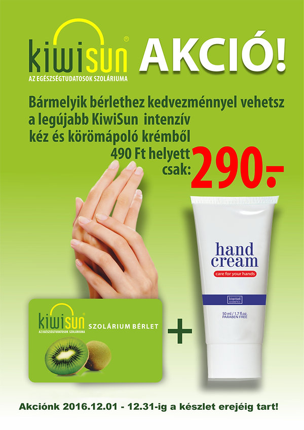 KiwiSun kézkrém akció
