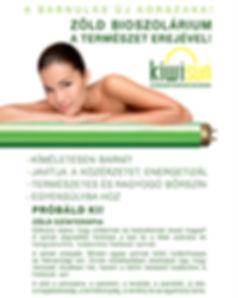 zöld bioszolárium