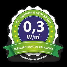 EU-konform 0,3 W/m2