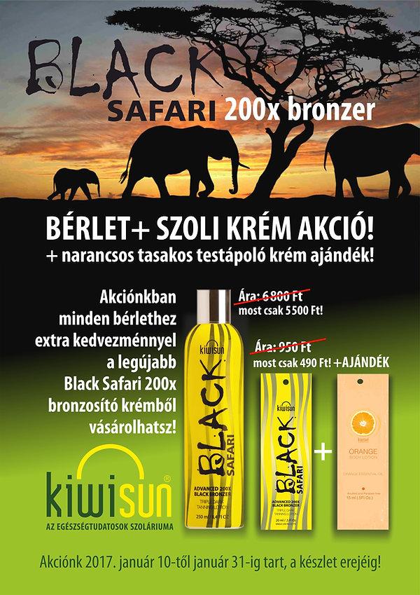 Black Safari akció