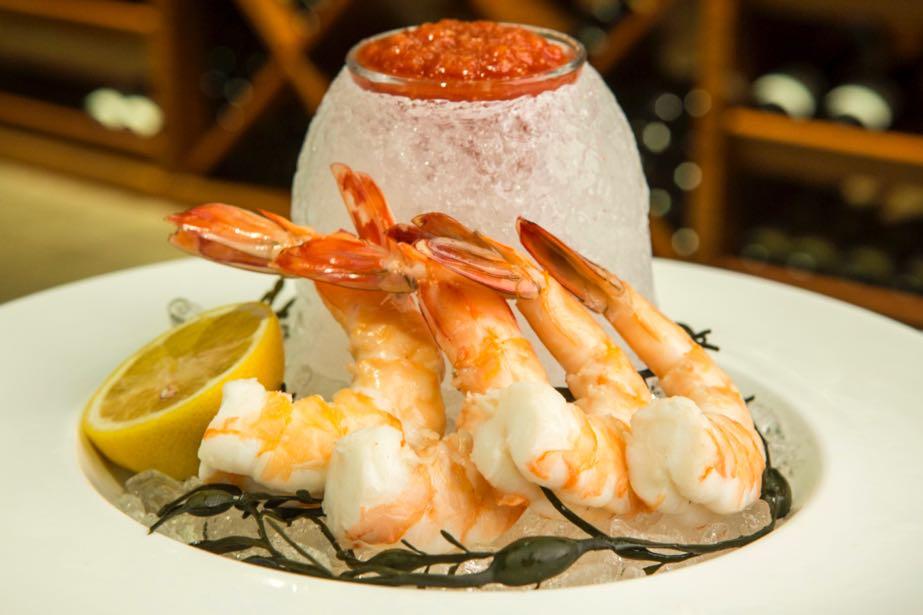 shrimp cocktail, food styling