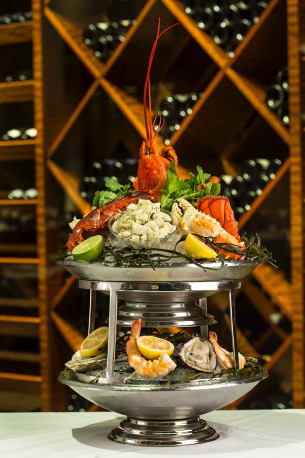seafood tower food styling
