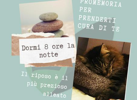 PROMEMORIA PER PRENDERTI CURA DI TE
