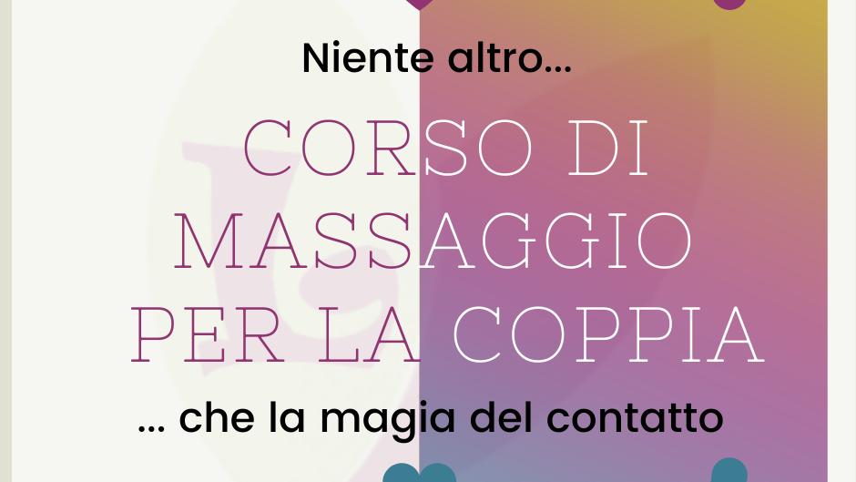 CORSO PRATICO DI MASSAGGIO PER LA COPPIA A DOMICILIO 90'