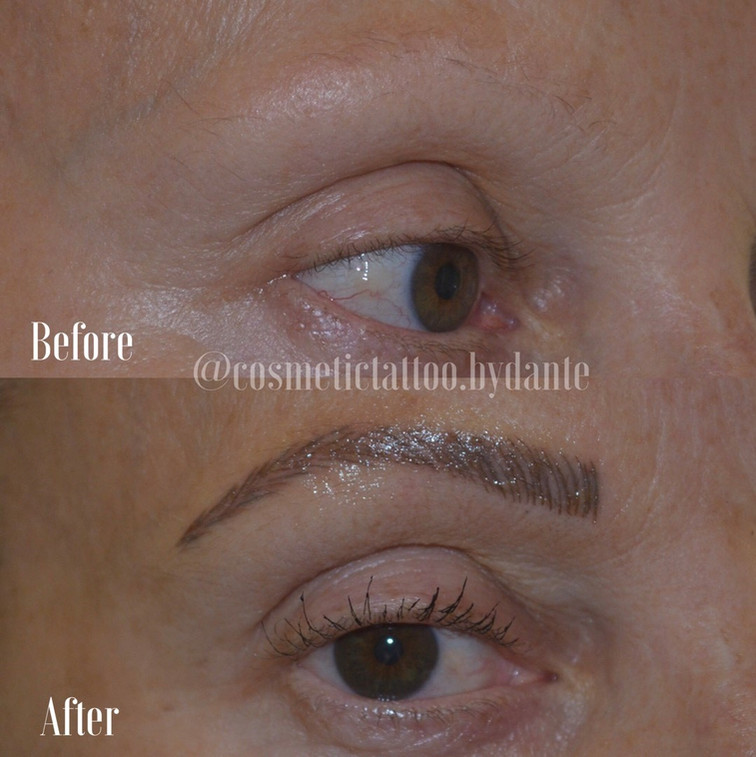 Full Feather Brow - immediately after treatment