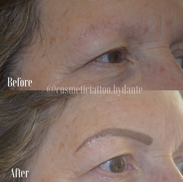 Full Powder Brow - immediately after treatment