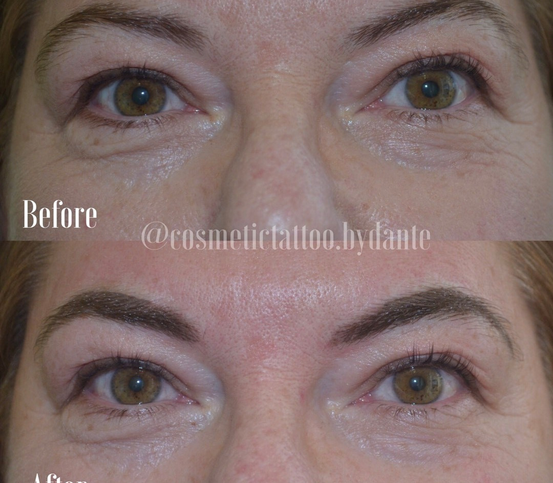 3/4 Powder Brow - immediately after treatment