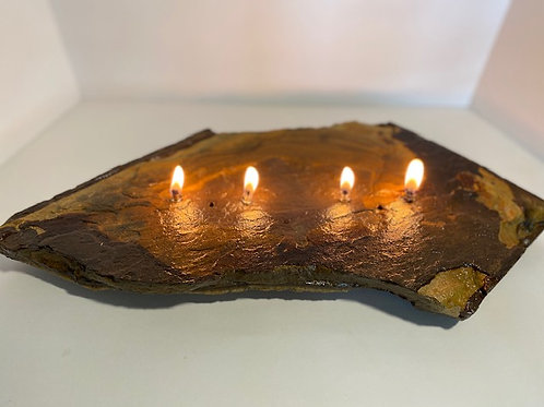 Large 4-Wick Rock Candle