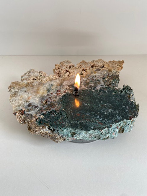 Pink Amethyst Candle -medium